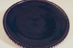Dinner Plate in Fluted Design Dark Blue Glaze