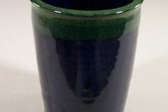 Utensil Holder Smooth Design in Dark Blue and Green Glaze