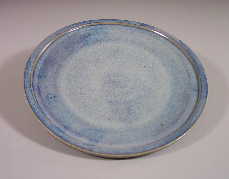 Dinner Plate, Smooth Design, Rutile Blue Glaze