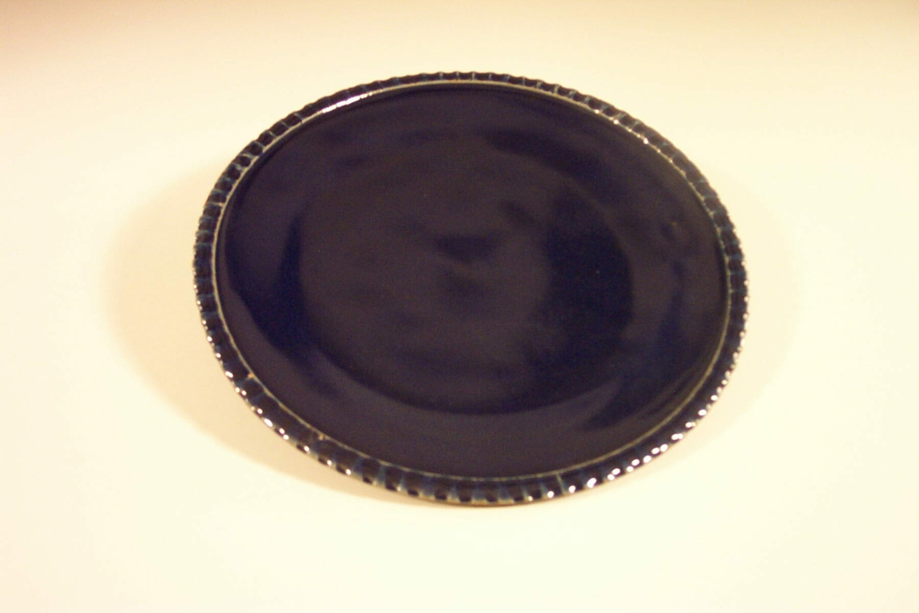 Dinner Plate Fluted Design Dark Blue Glaze