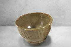 Cereal Bowl Fluted Design in Green Glaze