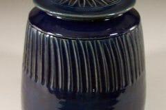 Cookie Jar in Dark Blue Glaze Design 2