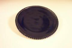 Dinner Plate Fluted Design Dark Blue Glaze
