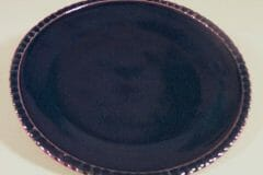 Dinner Plate in Fluted Design Dark Blue Glaze