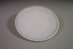 Dinner Plate Fluted Design in White Glaze