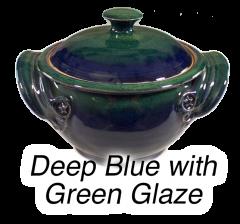 Dark Blue with Green
