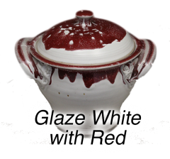 White with Red