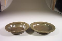 Salad Bowl or Pasta Bowl Smooth Design in Green Glaze