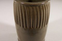 Utensil Holder Fluted Design in Green Glaze