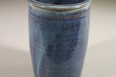 Utensil Holder Smooth  Design in Rutile Blue Glaze