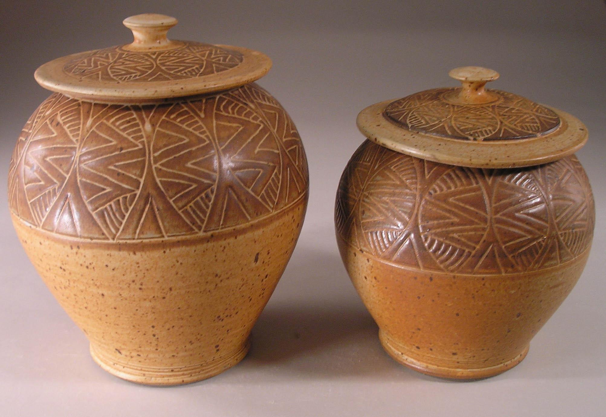 Slip Design Jar, Medium and Small