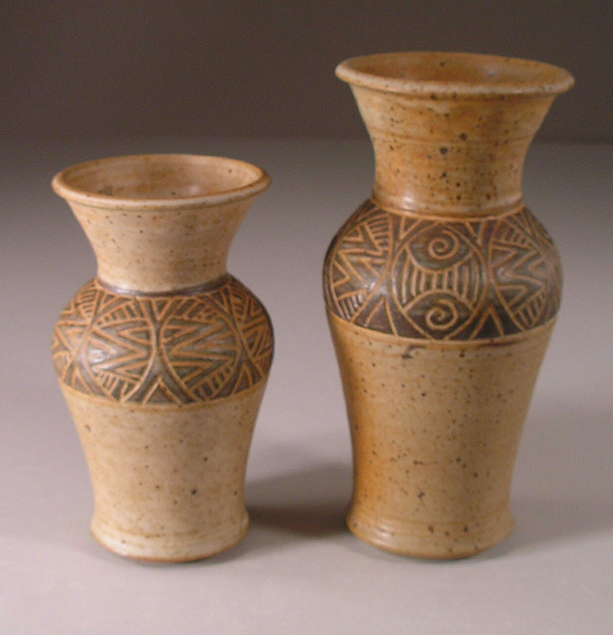 Slip Vases, Small and Medium