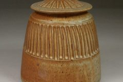 Cookie Jar Fluted Design in Spodumene Glaze