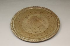 Small Platter Fluted Design in Spodumene Glaze