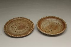 Small Dinner Plate or Salad Plate Fluted Design in Spodumene Glaze