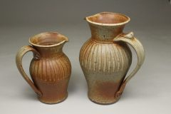 Pitcher, Small or Large, Fluted Design in Spodumene Glaze