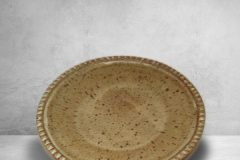 Dinner Plate Fluted Design Spodumene Glaze