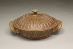 Tortilla Warmer Fluted Design in Spodumene Glaze
