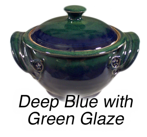Dark Blue and Green Glaze