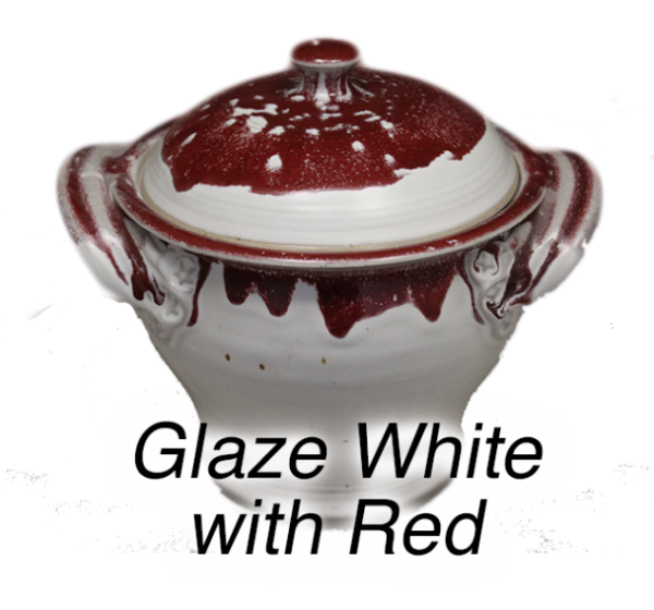 White and Red Glaze