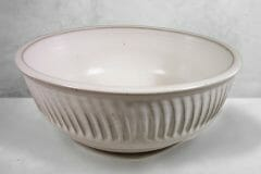 Large Bowl in White Glaze