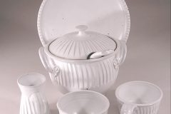 Grouping, Fluted Design, White Glaze