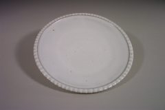 Dinner Plate Fluted Design in White Glaze