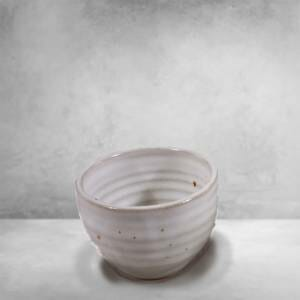 Individual Condiment Bowl Fluted Design in White Glaze