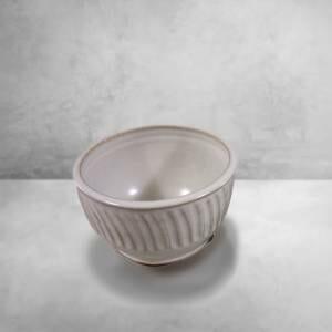 Cereal Bowl Fluted Design in White Glaze