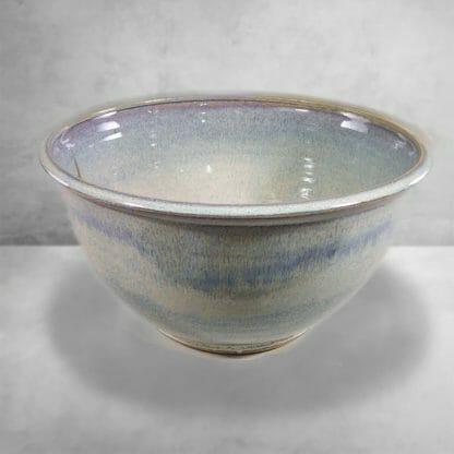 Bowl Deep Large smooth Design in Rutile Blue Glaze