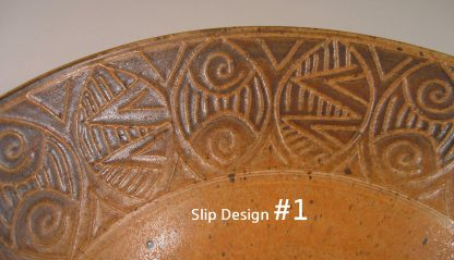 Slip Design 1 Small Plate or Dinner Plate