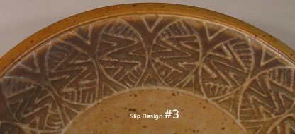 Slip Design 3 Small Plate or Dinner Plate