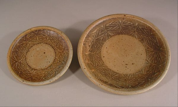 Slip Design Plates Small in Design 1 and Large in Design 2