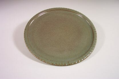 Dinner Plate Fluted Design in Green Glaze