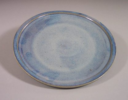 Dinner Plate, Smooth Design, Rutile Blue Glaze