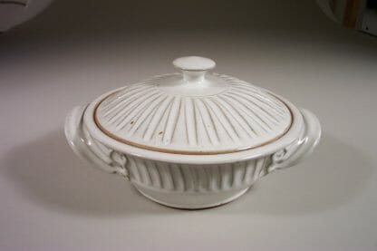 Medium Casserole with Lid, Fluted Design in White GlazeCasserole with Lid, Medium, Fluted Design in White Glaze