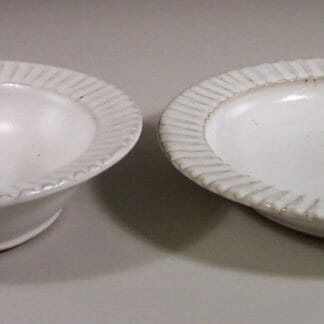 Salad Bowl or Pasta Bowl Fluted Design in White Glaze