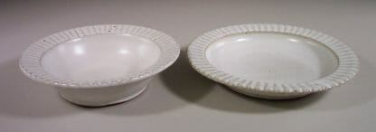 Salad Bowl or Pasta Bowl Fluted Design in White Glaze