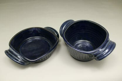 Open Deep Fluted Design in Dark Blue Glaze