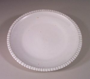 Small Platter Fluted Design in White Glaze