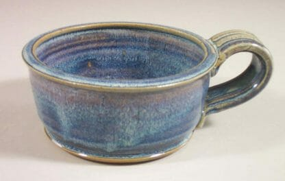 Soup Mug Smooth Design in Rutile Blue Glaze