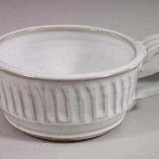 Soup Mug Fluted Design in White Glaze