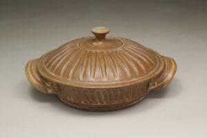 Tortilla Warmer Fluted Design in Spodumene Glaze