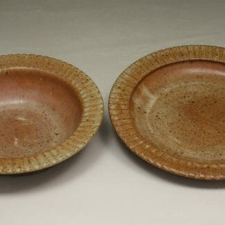 Salad Bowl and Pasta Bowl Fluted Design in Spodumene Glaze