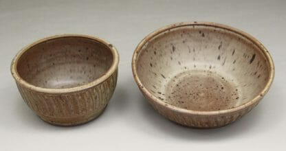 Cereal Bowl or Serving Bowl Fluted Design in Spodumene Glaze