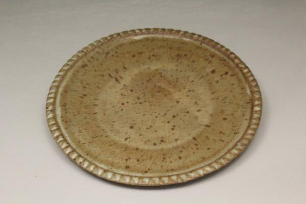 Small Platter Fluted Design in Spodumene Glaze