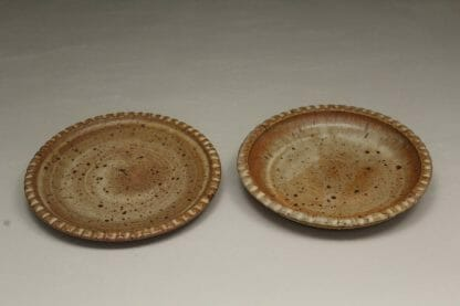 Small Dinner Plate or Salad Plate Fluted Design in Spodumene Glaze