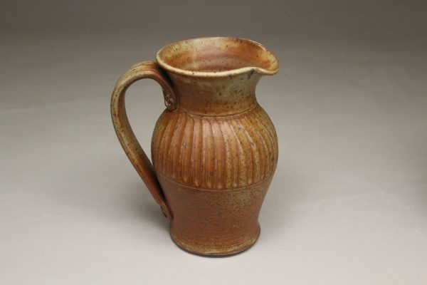 Small Pitcher Fluted Design in Spodumene Glaze