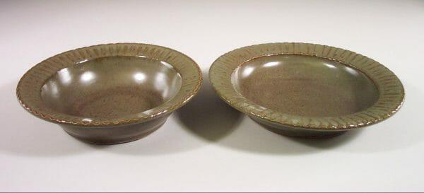 Salad Bowl or Pasta Bowl Smooth Design in Green Glaze