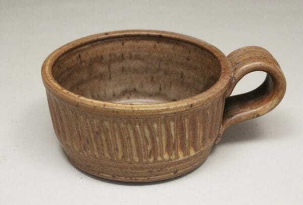 Soup Mug Fluted Design in Spodumene Glaze
